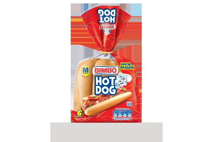 Hot Dog sin Ajonjolín 6 pz